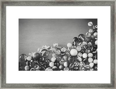 Half My Marbles Framed Print by Scott Norris