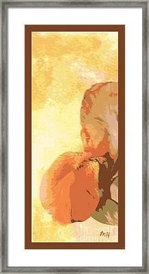Half Of An Abstract Iris Framed Print