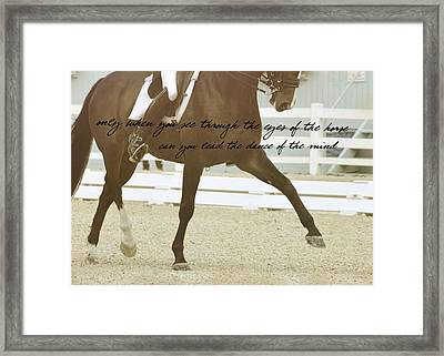Half Pass Quote Framed Print by JAMART Photography