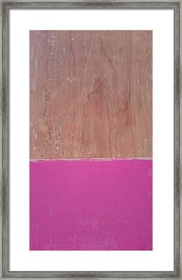 Half Pink Half Wood Framed Print