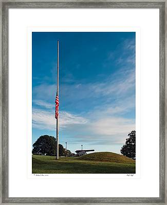 Framed Print featuring the photograph Half Staff by Richard Bean