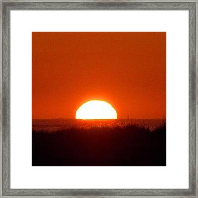 Half Sun Framed Print