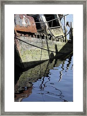 Half Sunk Boat Framed Print
