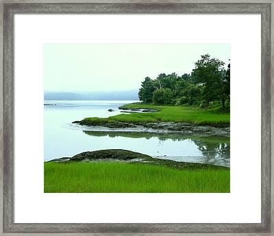 Half Tide Framed Print by Laurie Breton