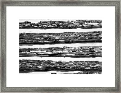 Half-timbered Wall Framed Print by Bill Mock