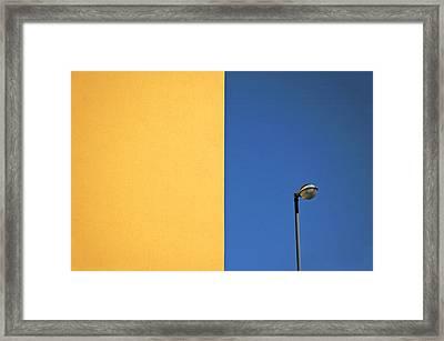 Half Yellow Half Blue Framed Print by Silvia Ganora