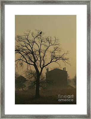 Halfway House And Eagle Framed Print