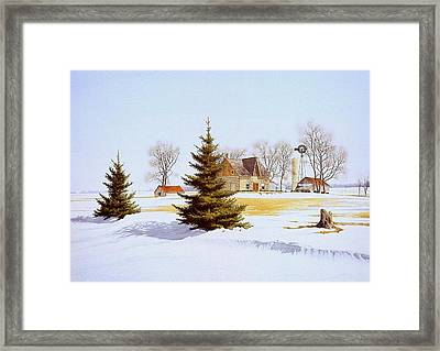 Halfway Into January Framed Print by Conrad Mieschke