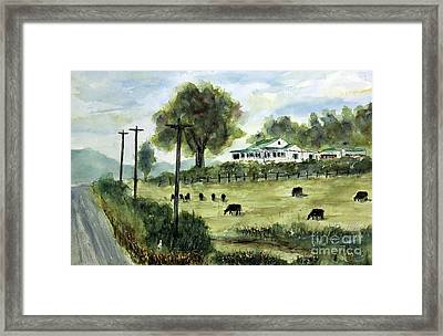 Halfway To Leipers Framed Print by Tim Ross