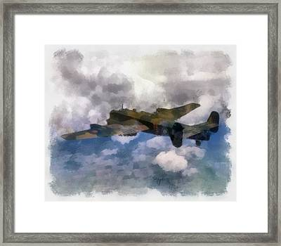 Halifax II 35 Squadron Wwii Framed Print by Esoterica Art Agency