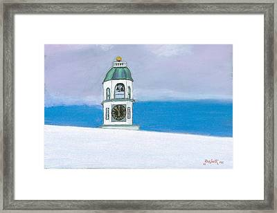 Halifax Old Town Clock Framed Print by Rae  Smith PSC