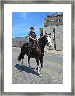Halifax Police Mounted Division Framed Print