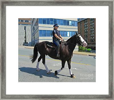 Halifax Police Photograph Framed Print