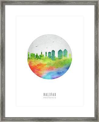 Halifax Skyline Canshx20 Framed Print