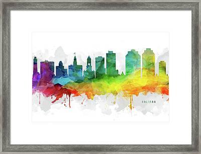 Halifax Skyline Mmr-canshx05 Framed Print
