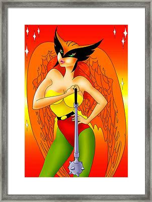 Halkgirl I Can Kick Your Ass Framed Print