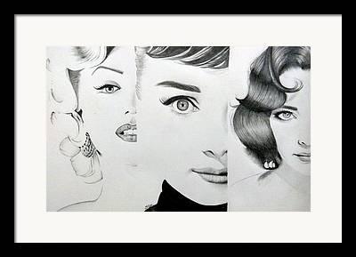 Munroe Drawings Framed Prints
