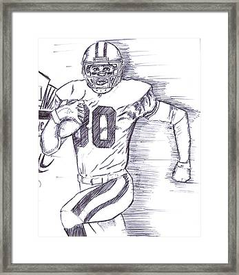 Hall Of Famer Jerry Rice   Framed Print by HPrince De Artist