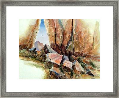 Hall Of Giants Framed Print by Don Trout