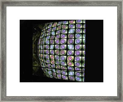 Framed Print featuring the photograph Hall Of Mirrors Kaleidoscope by Menega Sabidussi