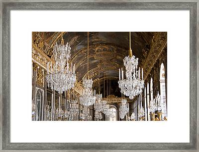 Hall Of Mirrors Palace Of Versailles France Framed Print by Jon Berghoff