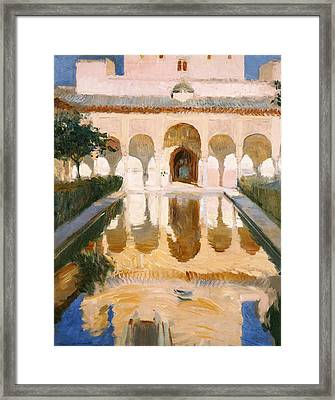 Hall Of The Embassadors Alhambra Granada Framed Print by Joaquin Sorolla y Bastida