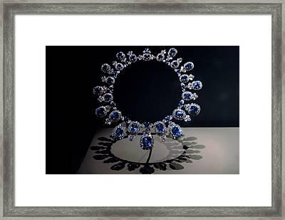 Hall Sapphire And Diamond Necklace Framed Print by LeeAnn McLaneGoetz McLaneGoetzStudioLLCcom