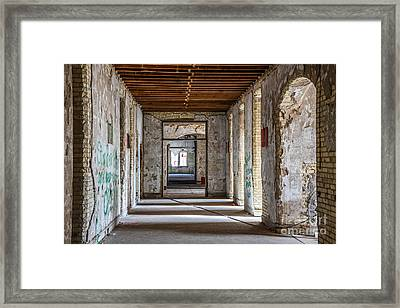 Hall To Patient Rooms Framed Print