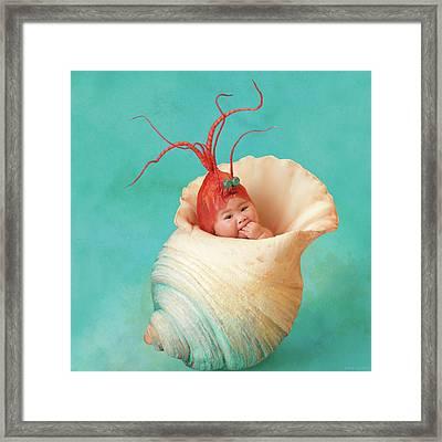 Halle As A Baby Shrimp Framed Print by Anne Geddes