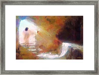 Hallelujah, He Is Risen Framed Print