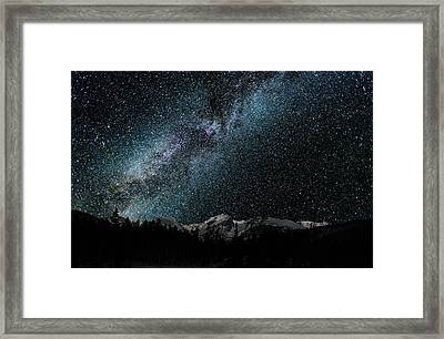 Hallet Peak - Milky Way Framed Print