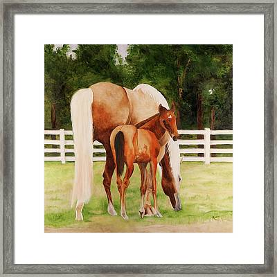 Halley And Missy Framed Print