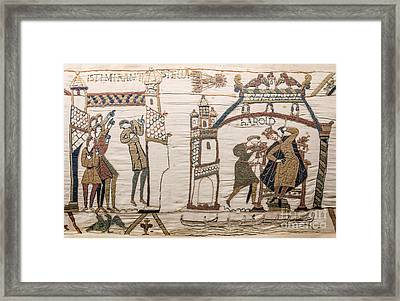 Halleys Comet Of 1066, Bayeux Tapestry Framed Print by Science Source