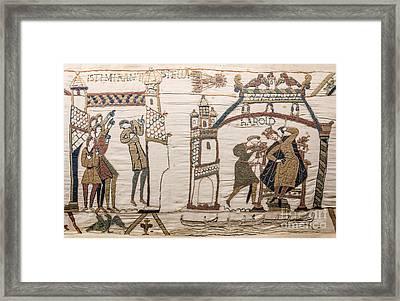 Halleys Comet Of 1066, Bayeux Tapestry Framed Print
