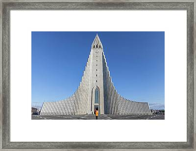 Framed Print featuring the photograph Hallgrimskirka by Wade Courtney