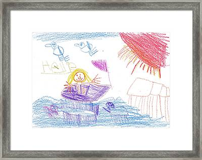 Hallie Framed Print by Hallie H