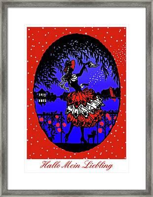 Hallo Mein Liebling - Vintage Illustration Framed Print