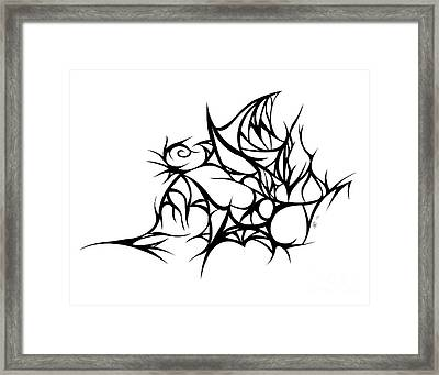 Hallow Web Framed Print