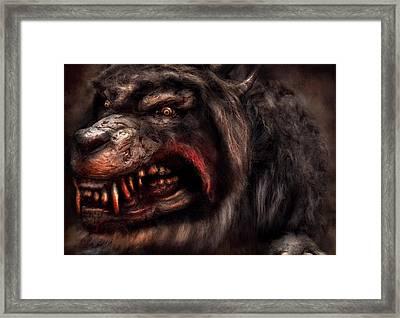 Halloween -  Mad Dog Framed Print by Mike Savad