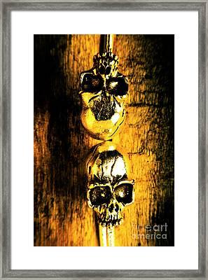 Halloween Bones Framed Print