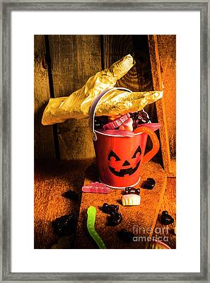 Halloween Candy Still Life Framed Print