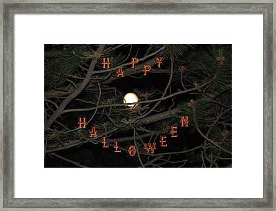 Halloween Card Framed Print