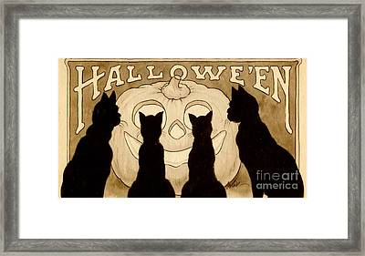 Halloween Card Framed Print