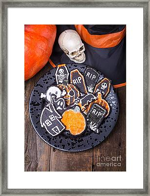 Halloween Cookies Framed Print by Edward Fielding