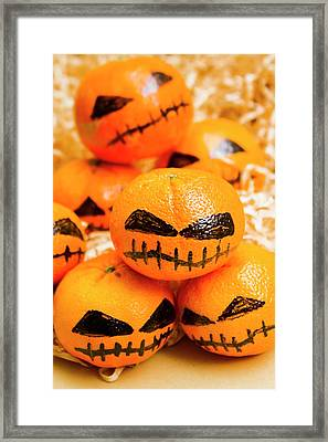 Halloween Craft Treats Framed Print