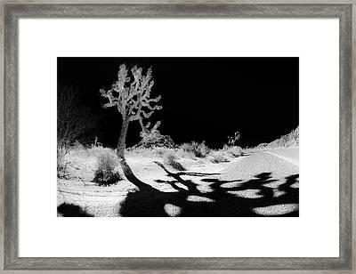 Halloween Crossing Framed Print