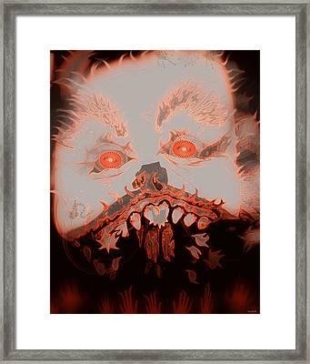 Halloween Devil Framed Print by Linda Galok