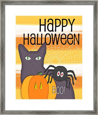 Halloween Friends- Art By Linda Woods Framed Print by Linda Woods