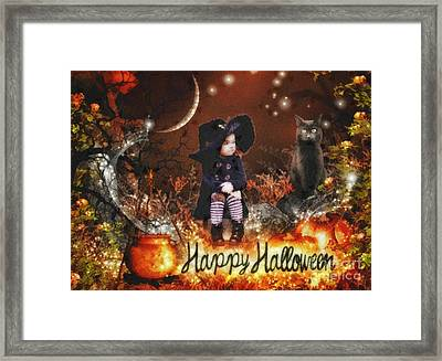 Halloween Girl Framed Print