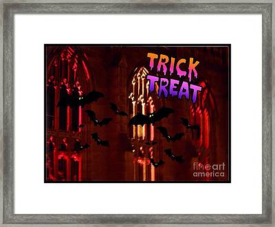 Halloween Greeting Framed Print